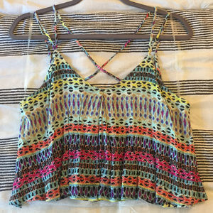 Lush Tribal Print Crop Top